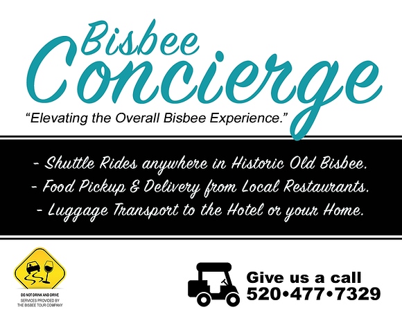 Bisbee Concierge Services | Shuttle Rides, Food Delivery, Luggage Transportaion, Reservation / Tickets Sales | Elevating the Overall Bisbee Experience