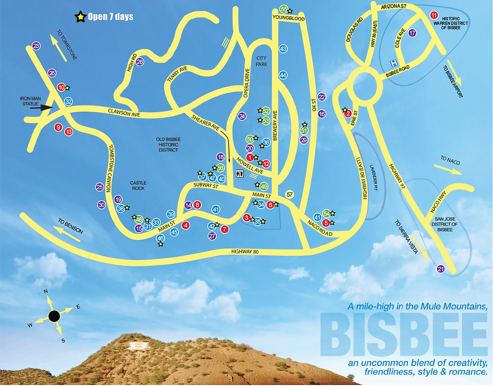 2019 Destination Bisbee Map