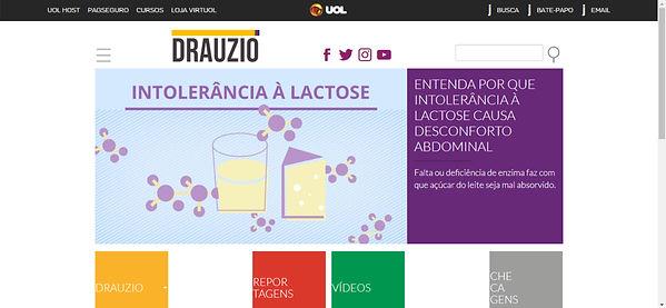 Print do site de Drauzio Varella imagem com fundo branco,imagens coloridas com informações destacada