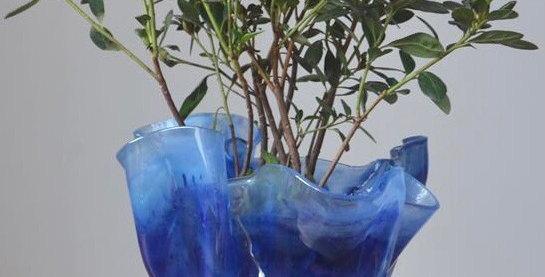 Cachepots azuis-turquesa