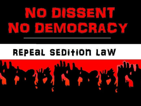Sedition Law used to Suppress Dissent