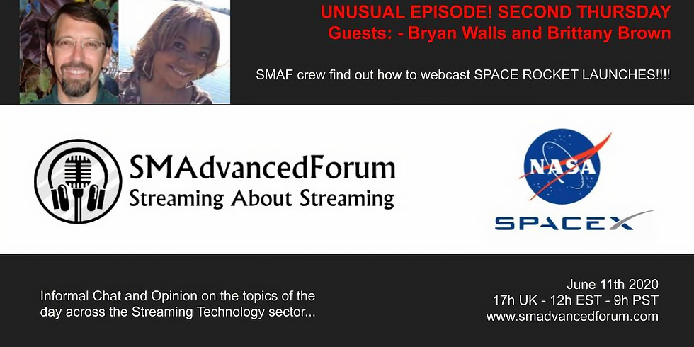 SMAdvancedForum - Webcast from Space! Bryan and Brittany from NASA - June 2020