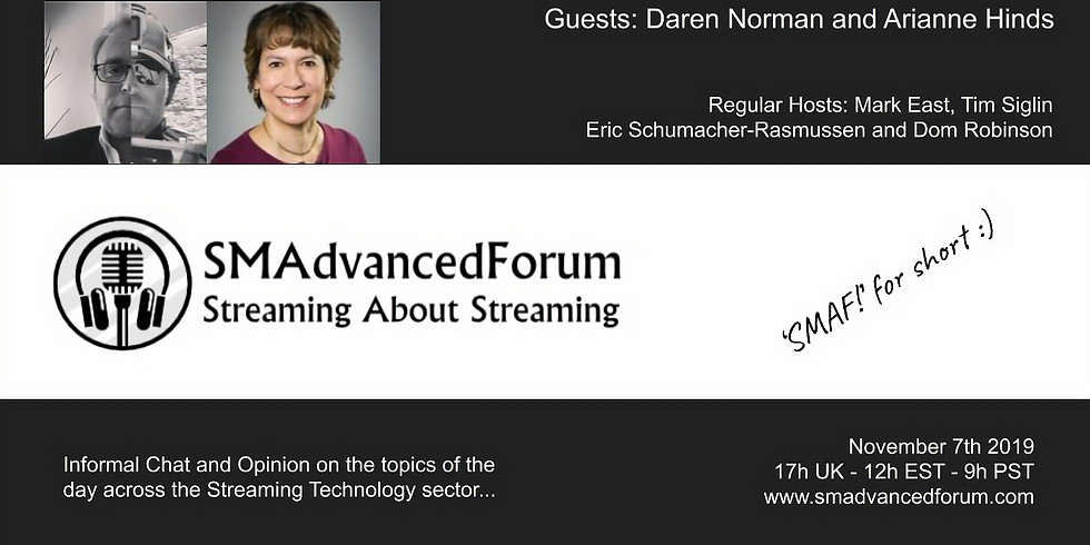 Daren Norman and Arianne Hinds on SMAF! - November 2019