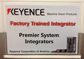 PREMIER receives Keyence Factory Trained System Integrator