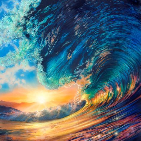 Cresting Sunset Wave
