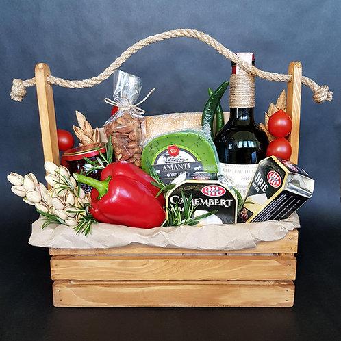 подарочный набор вино и сыр