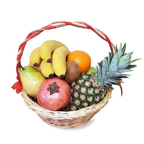 подарочная корзина с фруктами гранат ананас