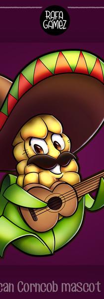 Diseño de mascota mejicana