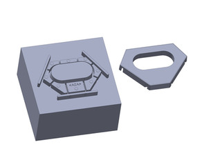 Plastic spacer and cover for COVID fighting UV lamp
