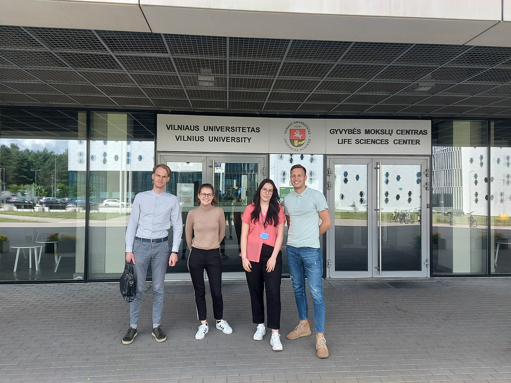 """Micromolds"" team and Vilnius University IGEM team members"