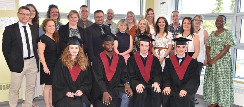 Fin d'un parcours pour quatre diplômés d'Allain St-Cyr