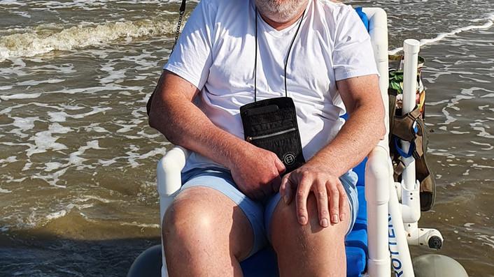 Strandbezoek de heer Vormin