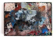 "Untitled (2021) 13"" x 9"" Acrylic, spray paint, enamel on canvas"