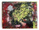 "Untitled (2021) 11.25"" x 8.5"" Acrylic, spray paint, enamel on canvas"