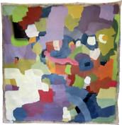 "Untitiled -  Trash soul (2018)  46"" x 46"" Acrylic latex house paint on canvas"
