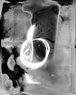 monoprint silver gelatin print