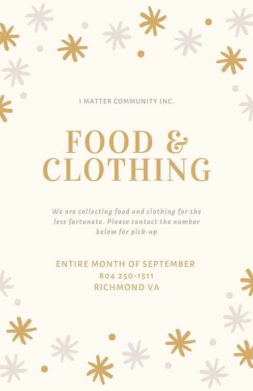 FOOD & CLOTHING DRIVE