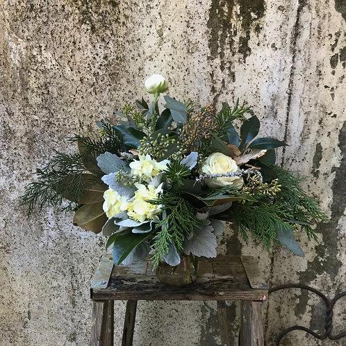 White  Winter Woodland Bouquet