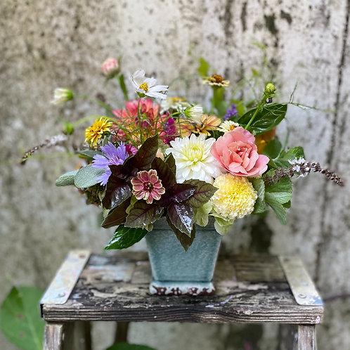 Turquoise Pot Bouquet