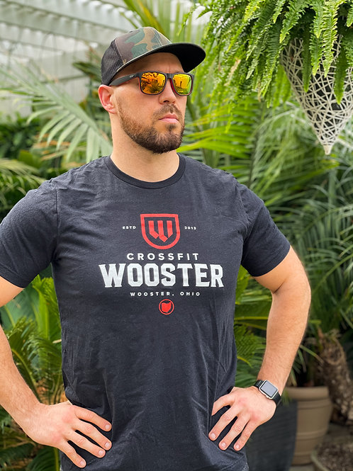 Black Heather Triblend - CrossFit Wooster T-shirt