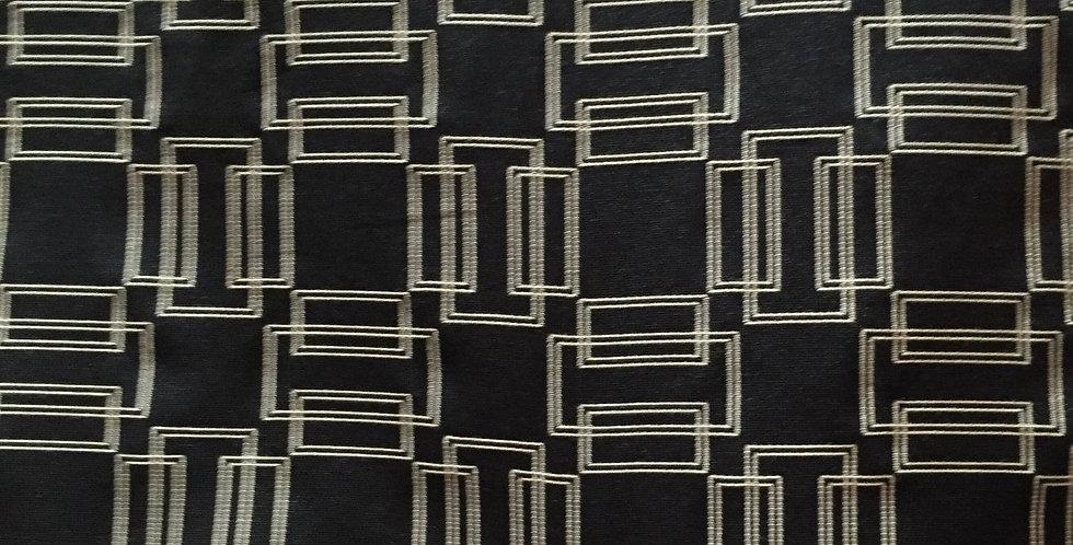 Black and Cream Geometric - Reversible Squares