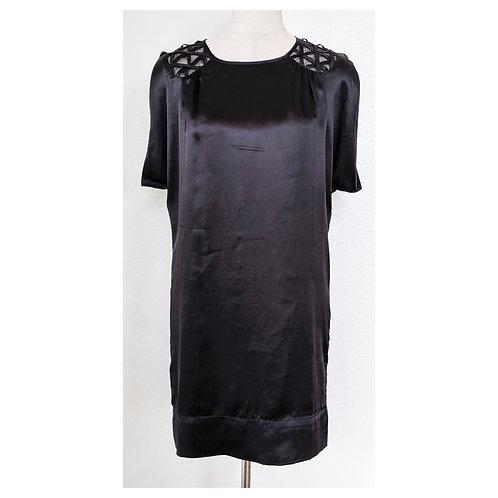 100% Silk Black Shift Dress