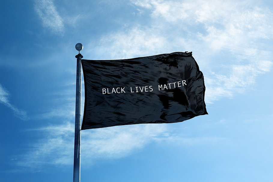BLACK LIVES MATTER Flag on the mast.jpg