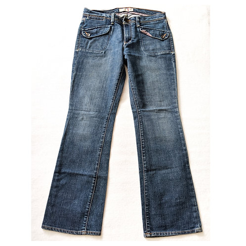Pocket Flap Bootcut Jeans