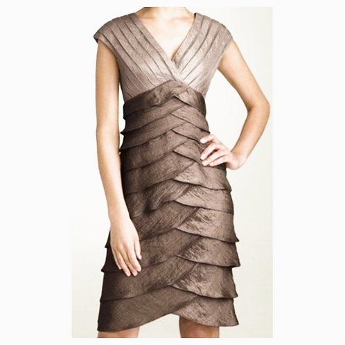 Shutter Pleat Sheath Dress Size 10