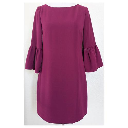 Magenta Bell Sleeve Shift Dress