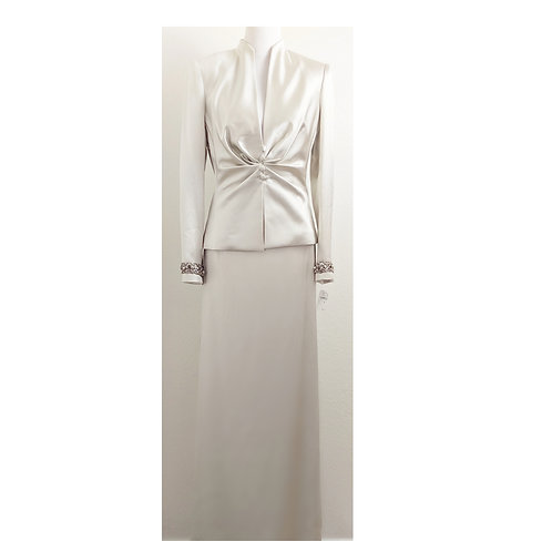 NWT Champagne Mother of the Bride Skirt Suit Size 8