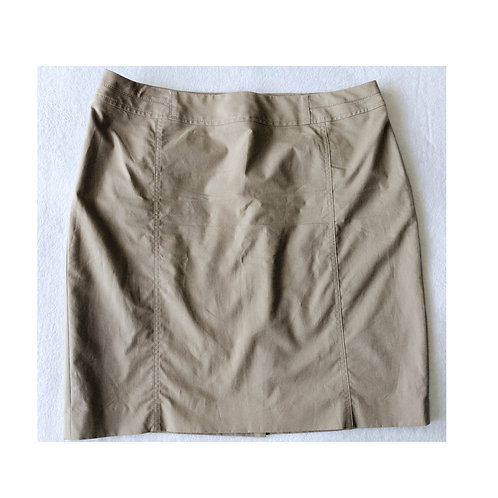 Khaki Casual Skirt