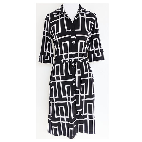 WHBM - Belted Jersey Shirt Dress - Size 2