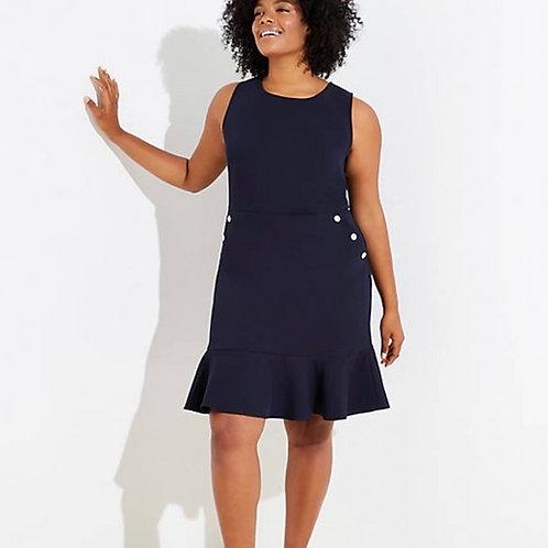 NWT Navy Blue Pocket Flounce Dress Plus Size 24