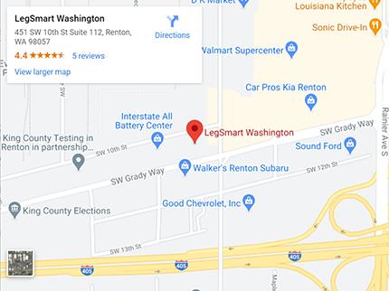 google map image - legsmart washington s