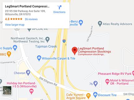 google map image - legsmart oregon store