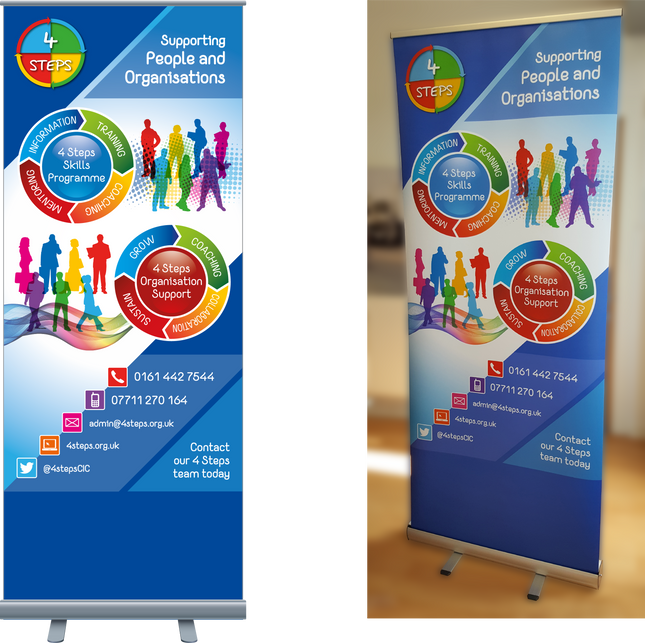 4 Steps Banner Stand
