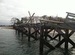 6 Island Beach Pier - After Storm