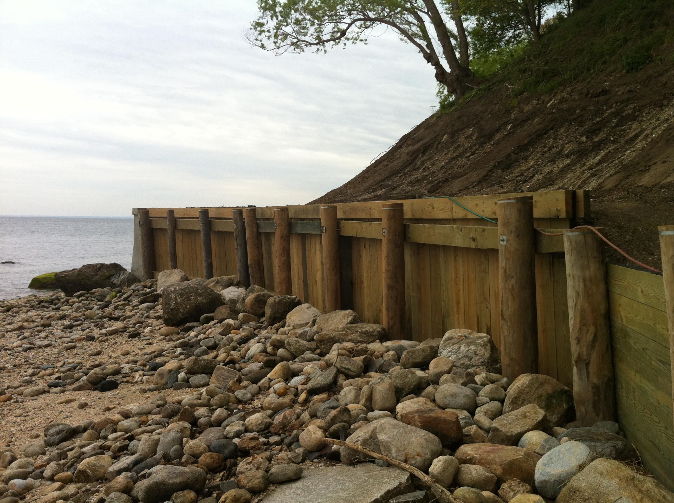 Timber Navy Wall