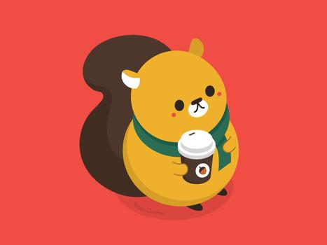 Mr Squirrel and his Acorn Latte