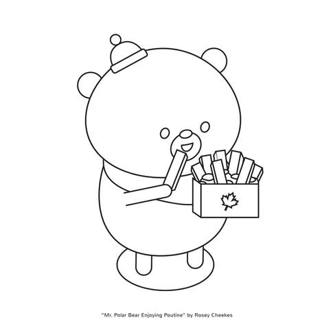 Bear Colouring Sheet