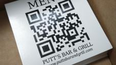QR Code Menu Stickers