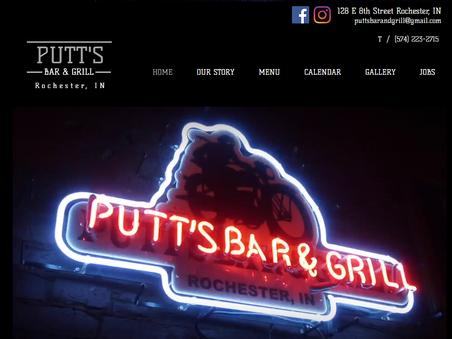Putt's Bar & Grill Website