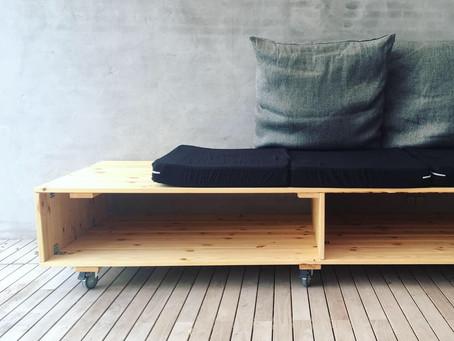 Udendørs daybed - DIY på budget – inspireret af Nybyggerne 2019