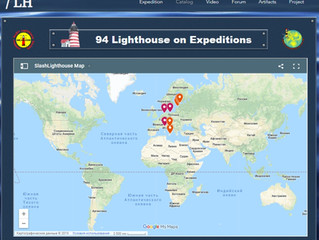 Updating the list of expeditions, 233 lighthouses