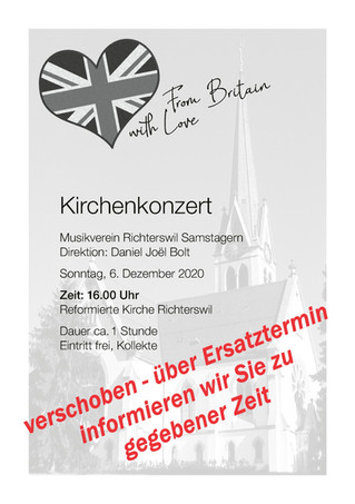verschoben - Kirchenkonzert Richterswil Reformierte Kirche