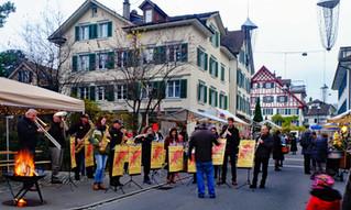 Zweiter Adventsplausch in Richterswil - das Aspi und der MRS musikalisch unterwegs