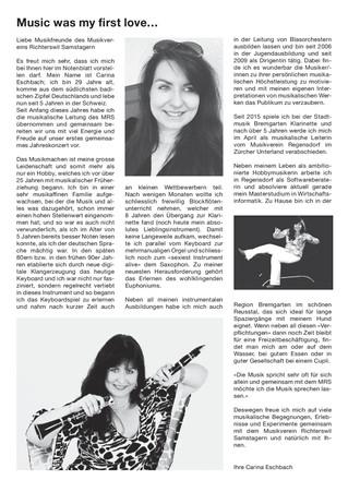 Carina Eschbach - Unsere neue Dirigentin stellt sich Ihnen vor