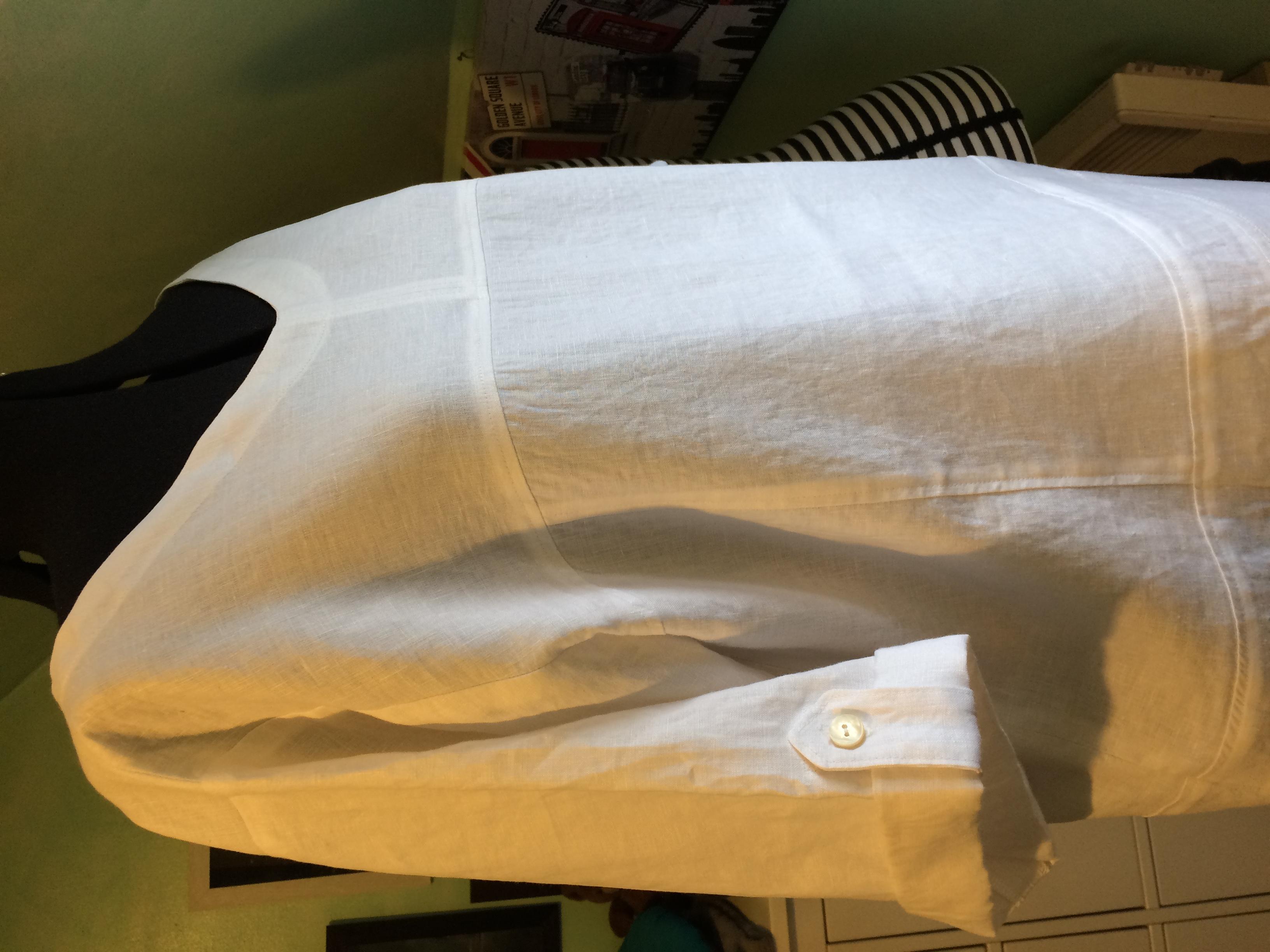 Robe en lin blanc