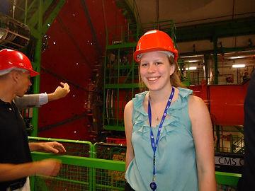 Signe Brewster CMS cavern LHC CERN particle detector